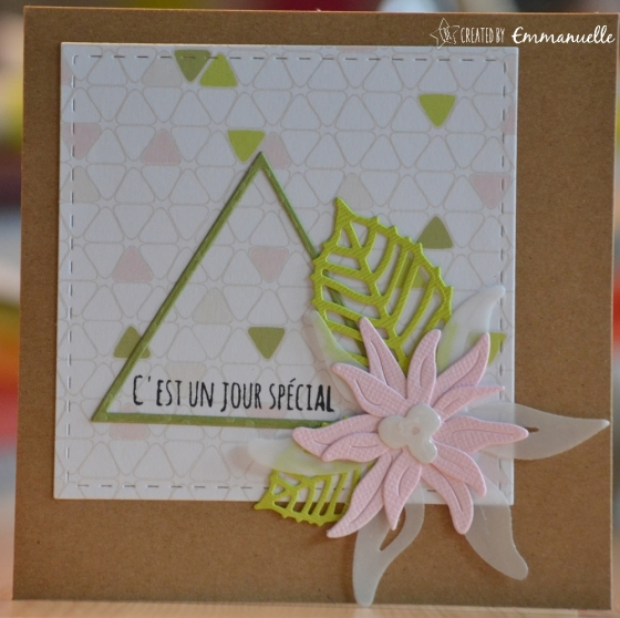 "Carte anniversaire ""Edelweiss"" juin 2017 | Created by Emmanuelle"
