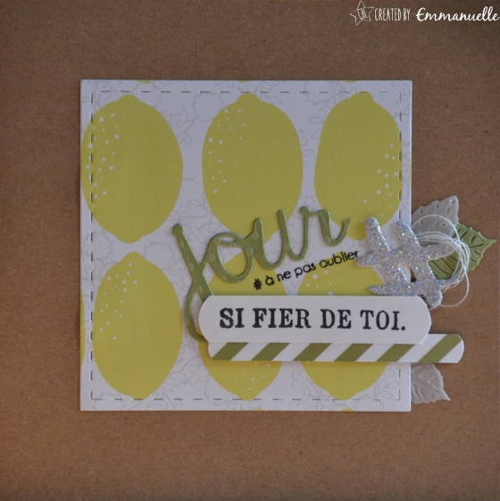 "Carte félicitations""Citrons"" juillet 2017 
