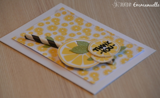 "Carte Merci ""Cocktail citrons"" juillet 2017 | Created by Emmanuelle"