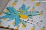 """Carte soutien """"tropical"""" juillet 2017   Created by Emmanuelle"""