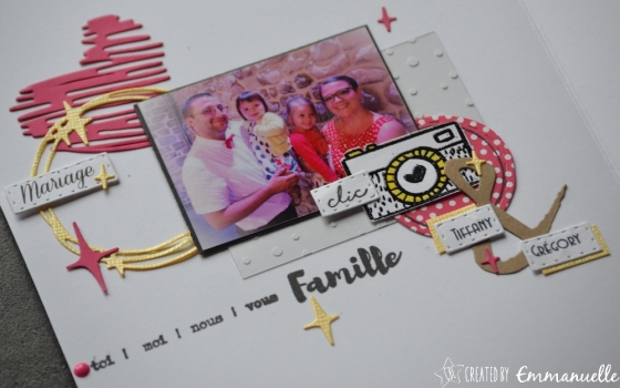 "Page Scrap A5 ""Love Famille"" Juillet 2017 