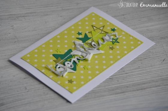 "Carte félicitations ""bonheur étoilé"" août 2017 | Created by Emmanuelle"