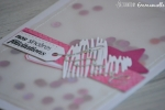 "Carte de félicitations mariage ""Shaker rose"" Juin 2017 | Created by Emmanuelle"