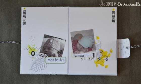 "Mini album ""12 premiers mois de Nina"" Août 2017 | Created by Emmanuelle"