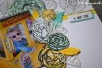 "Page Scrap A4 ""Dans la joie"" Août 2017 | Created by Emmanuelle"