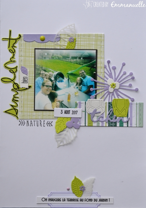 "Page Scrap A5 ""Simplement bien"" Août 2017 