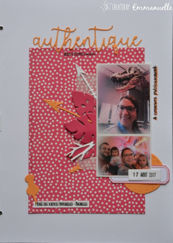 "Page Scrap A5 ""Authentique"" Août 2017 