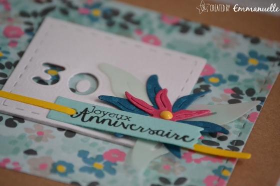 "Carte d'anniversaire ""30 ans Edelweiss"" Septembre 2017 | Created by Emmanuelle"