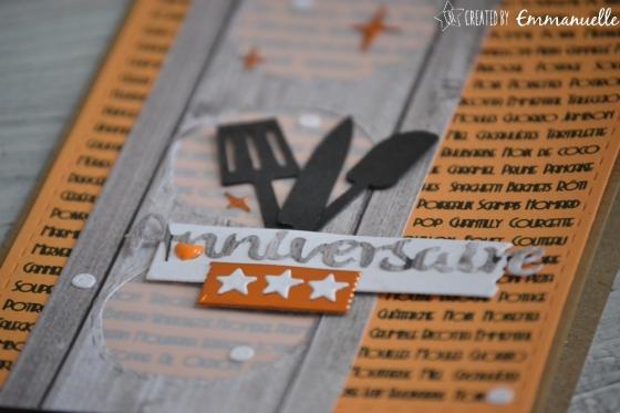 "Carte d'anniversaire ""Cuisine"" Septembe 2017 | Created by Emmanuelle"