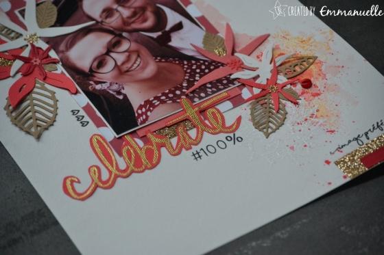 "Page Scrap A4 ""Celebrate"" Septembre 2017   Created by Emmanuelle"