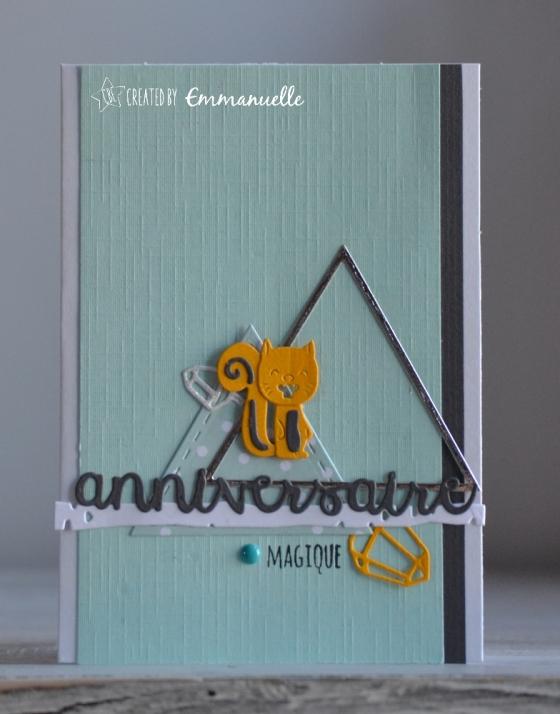 """Carte d'anniversaire """"écureuil"""" Octobre 2017   Created by Emmanuelle"""