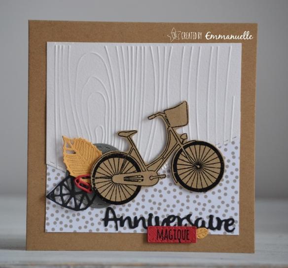 A Velo Une Carte D Anniversaire Boisee Et Cycliste Created By Emmanuelle