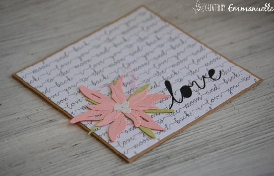 "Carte de félicitations ""love edelweiss"" Octobre 2017   Created by Emmanuelle"