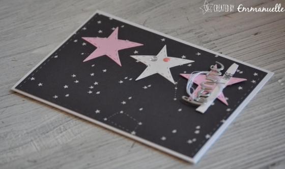 "Carte de voeux 2018 ""constellation"" Octobre 2017 | Created by Emmanuelle"