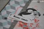 """Carte de voeux 2018 """"Pingouin"""" Octobre 2017   Created by Emmanuelle"""
