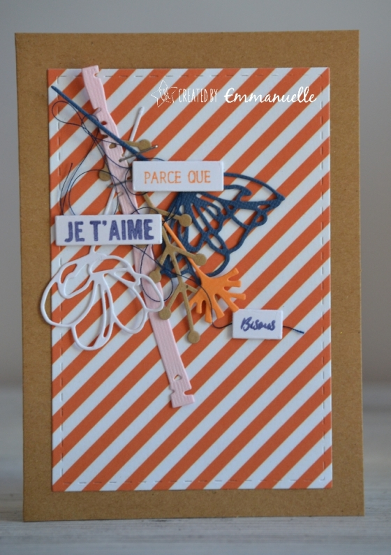 "Carte d'amour ""bouquet suspendu"" Janvier 2018 