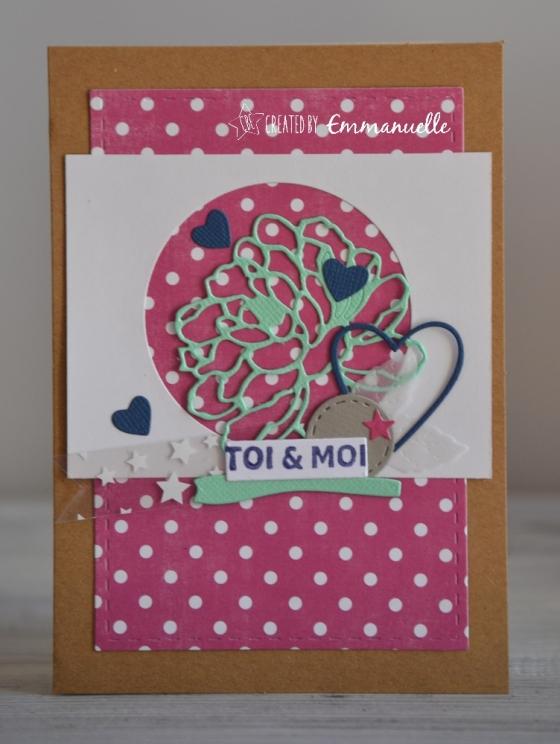 "Carte d'amour ""toi&moi"" Janvier 2018 | Created by Emmanuelle"