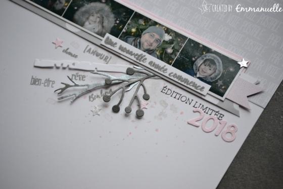 "Page Scrap A4 ""Voeux 2018"" Janvier 2018   Created by Emmanuelle"