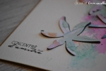 """Carte d'amitié """"fleurs encrées"""" Mars 2018   Created by Emmanuelle"""