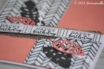 "Carte d'anniversaire""peach"" Mars 2018 | Created by Emmanuelle"