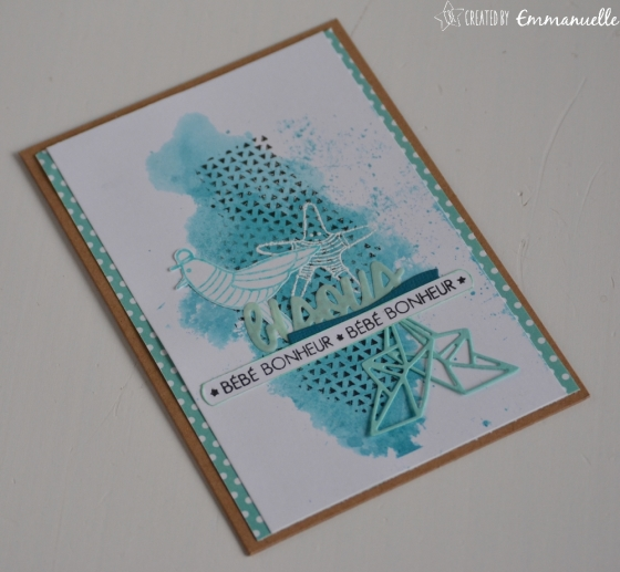 "Carte de naissance ""mer"" Mars 2018 | Created by Emmanuelle"