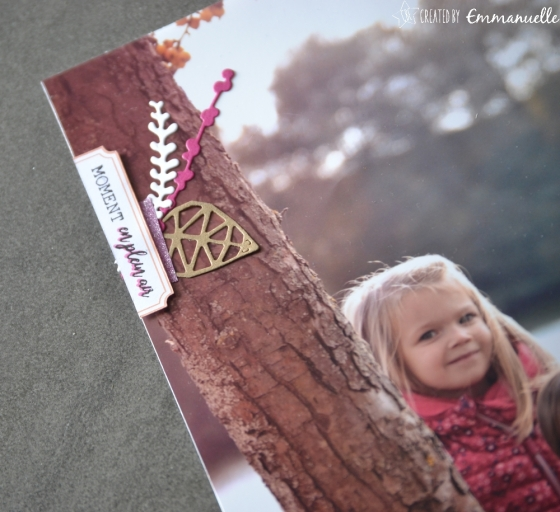 "Page Scrap A4 ""Automne"" Mars 2018 