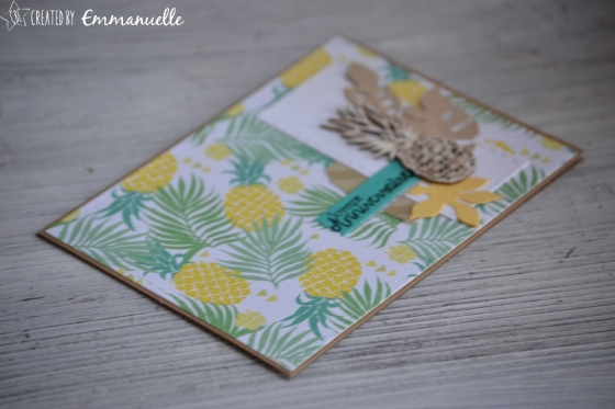 "Carte d'anniversaire ""ananas"" Avril 2018 