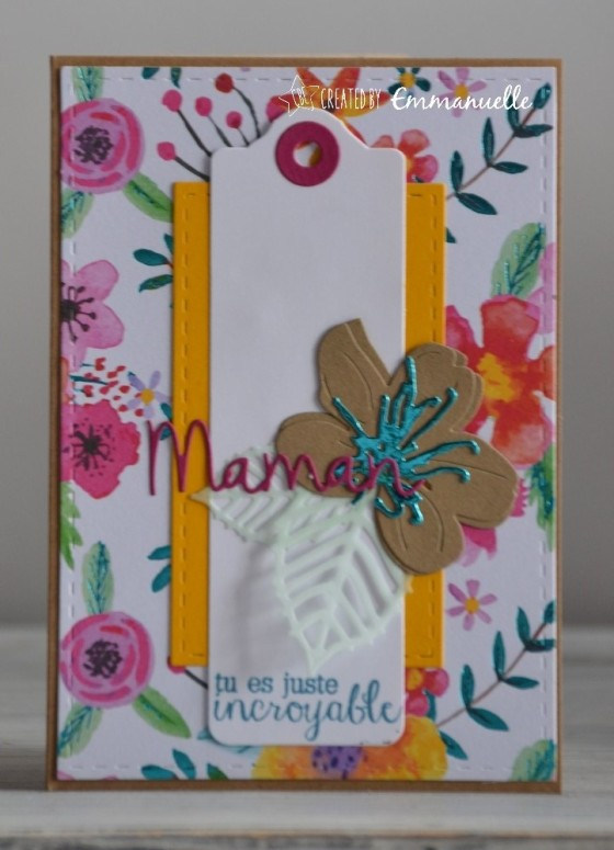 "Carte fête des mères ""flower power"" Avril 2018   Created by Emmanuelle"