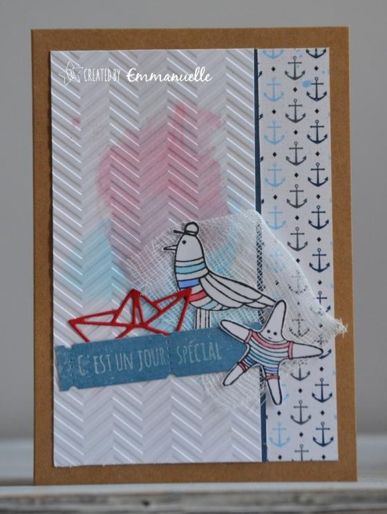 "Carte d'anniversaire ""marin"" Mai 2018 | Created by Emmanuelle"