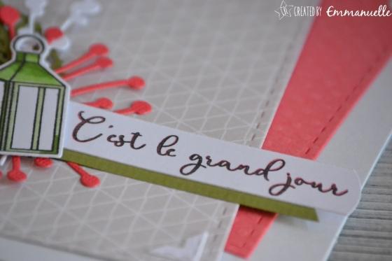 "Carte de félicitations - mariage ""lanterne"" Mai 2018 | Created by Emmanuelle"