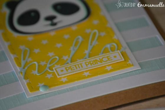 "Carte de félicitations - ""naissance panda"" Mai 2018 | Created by Emmanuelle"