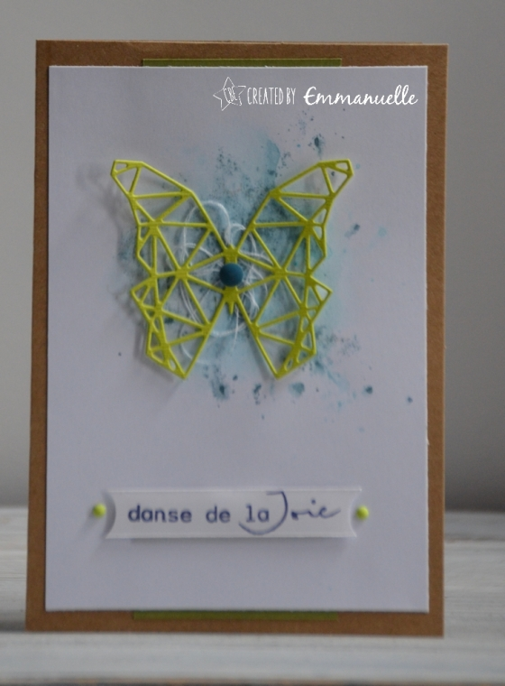 "Carte de félicitations ""papillon"" Juillet 2018 