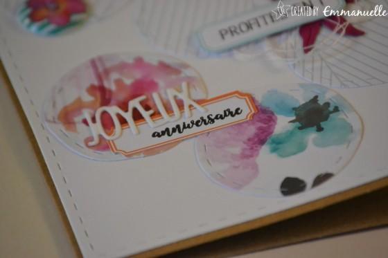 "Carte de félicitations ""ronds fleuris"" Août 2018 | Created by Emmanuelle"