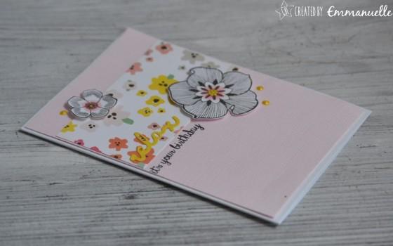 "Carte d'anniversaire ""relax"" Juillet 2018 | Created by Emmanuelle"