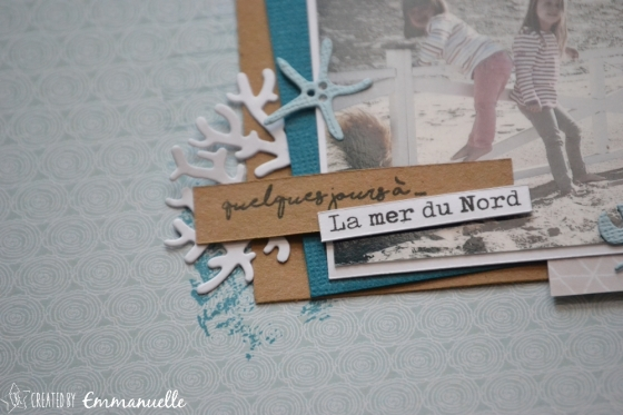"Page Scrap A4 ""Mer du Nord"" Août 2018 