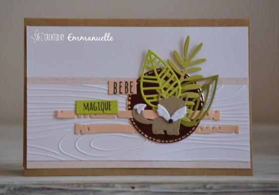 "Carte de félicitations ""renard"" octobre 2018 | Created by Emmanuelle"