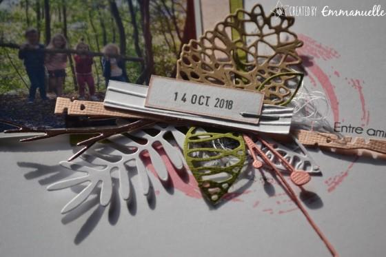 "Page Scrap A4 ""automne"" septembre 2018 | Created by Emmanuelle"