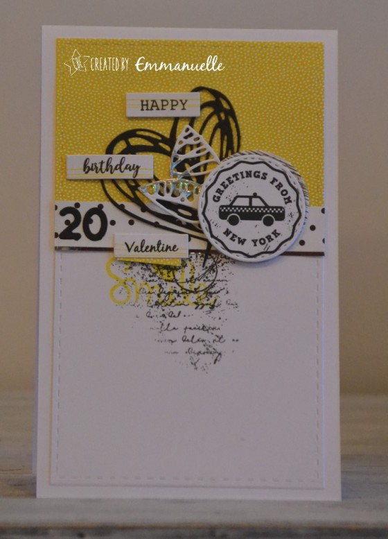 "Carte d'anniversaire ""taxi New-York"" novembre 2018 