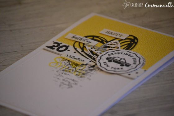 "Carte d'anniversaire ""taxi New-York"" novembre 2018   Created by Emmanuelle"