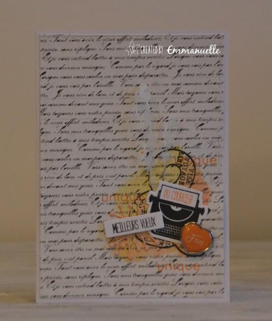 """Carte de voeux 2019 """"machine à écrire"""" octobre 2018   Created by Emmanuelle"""