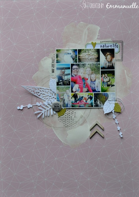 "Page Scrap A4 ""nature life"" Janvier 2019 