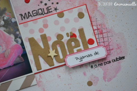 "Page Scrap A4 ""pyjamas de Noël"" Janvier 2019 | Created by Emmanuelle"