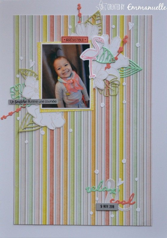 """Page Scrap A4 """"relax & cool"""" Janvier 2019 