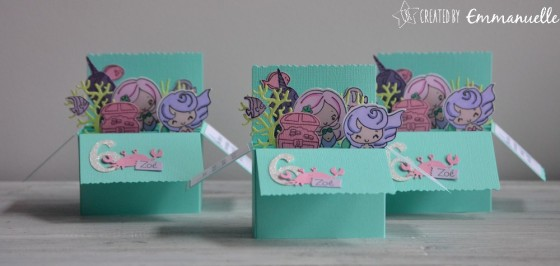 "Invitations 6 ans Zoé ""Sirène"" février 2019 