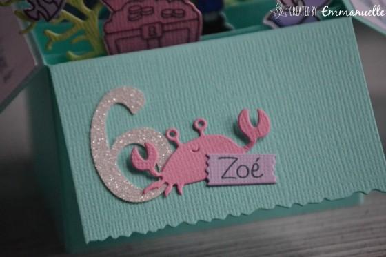 "Invitations 6 ans Zoé ""Sirène"" février 2019 | Created by Emmanuelle"