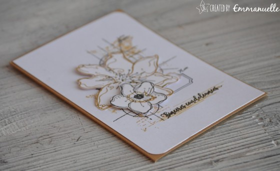 "Carte de condoléances ""fleurs en kraft"" mars 2019 