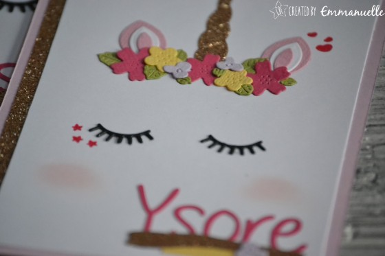 "Invitations 3 ans Ysore ""licorne"" mars 2019 