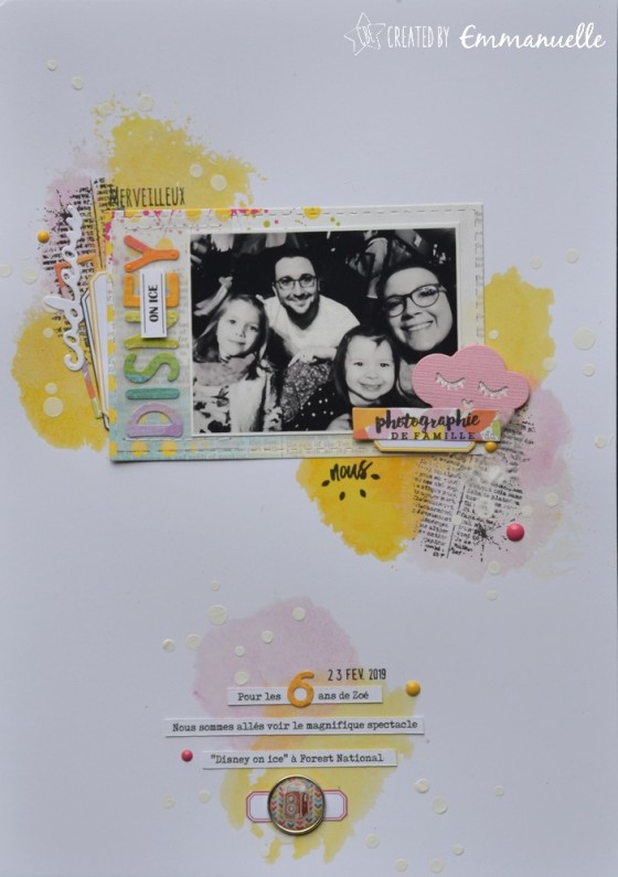 "Page Scrap A4 ""Disney on Ice"" Mars 2019 