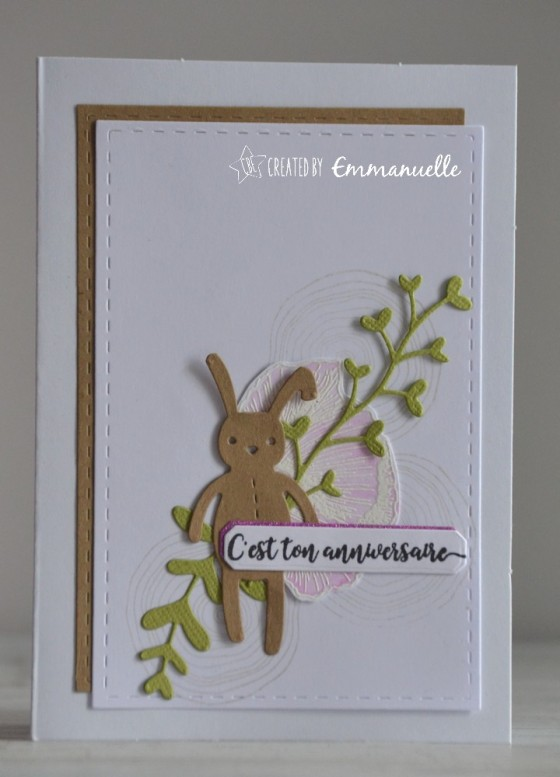 "Carte d'anniversaire ""lapin"" mai 2019 