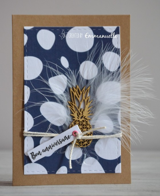 "Carte d'anniversaire ""plume"" mai 2019 | Created by Emmanuelle"